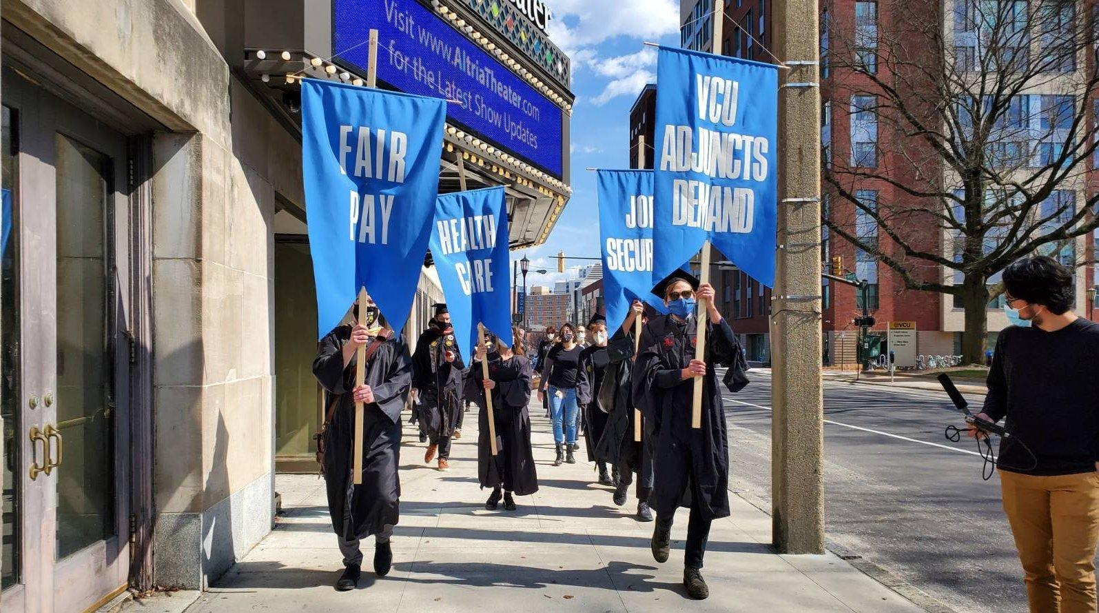VCU adjuncts march in support of fair wages